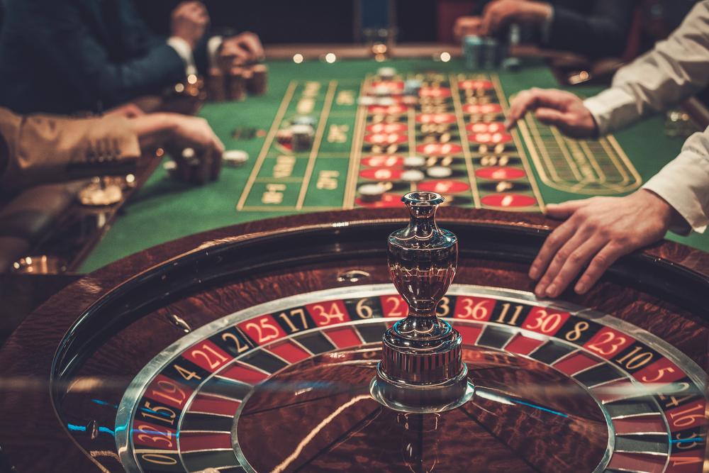 fysiek casino roulettetafel
